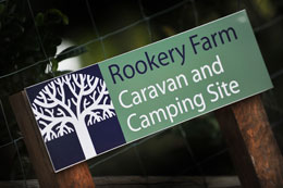Caravan and camping at Rookery Farm, Norfolk