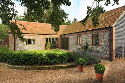 Wash House holiday accommodation, Rookery Farm, Norfolk